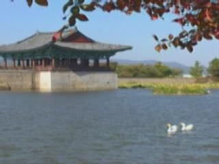 Кёнджу:  Южная Корея:      Пруд Анапчи