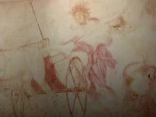 Вергина:  Греция:      Древняя фреска Похищение Персифоны