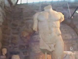 Side:  Antalya:  Turkey:      Archeological museum Side