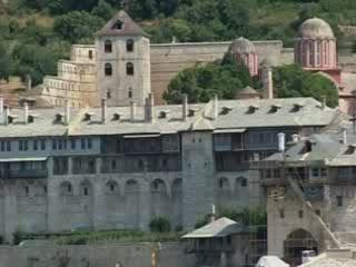 Halkidiki:  Athos:  Greece:      Athos monastic state