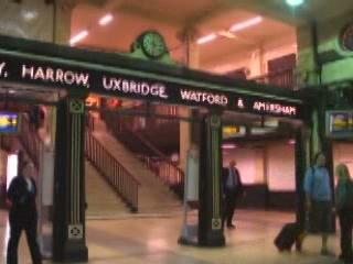 London:  Great Britain:      Baker Street tube station