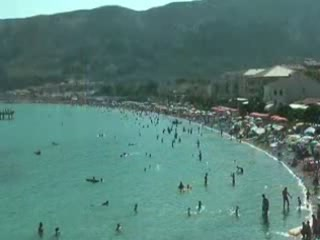 Башка:  Остров Крк:  Хорватия:      Пляж в Башке