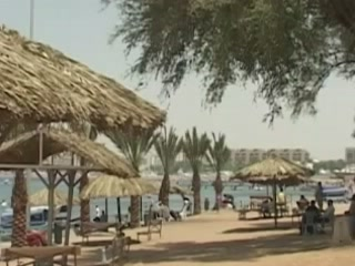 Aqaba:  Jordan:      Beach in Aqaba