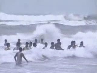 Орисса:  Пури:  Индия:      Пляж в Пури