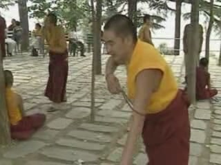 Dharamsala:  Himachal Pradesh:  India:      Buddhist temple in Dharamsala