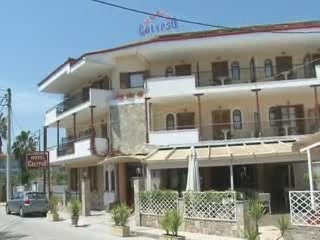 Kassandra:  Halkidiki:  Greece:      Calypso Hotel in Chaniotis