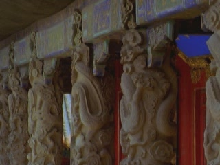Images Columns of the temple of Confucius architecture