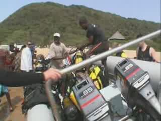 Ponta do Ouro:  モザンビーク:      Diving Parque de Malongane