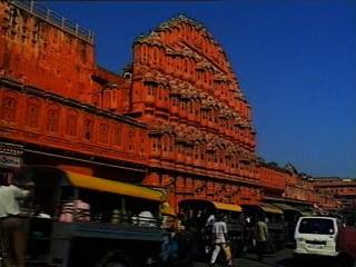 ジャイプル:  ラージャスターン州:  インド:      ハワー・マハル