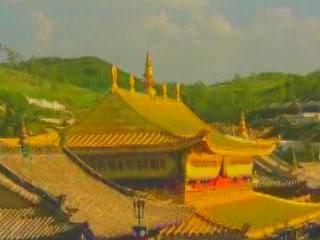 Цинхай:  Китай:      Монастырь Кумбум