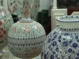 Раджастхан:  Индия:      Роспись по мрамору и керамике