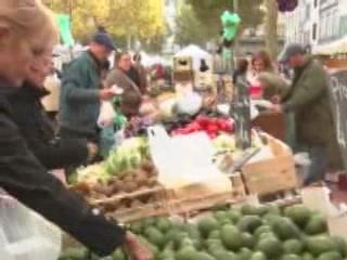 卡尔卡松:  朗格多克-鲁西永:  法国:      Market of Carcassonne