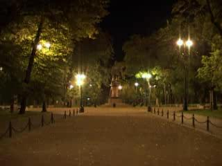 Kronstadt:  St. Petersburg:  Russia:      Night Kronstadt