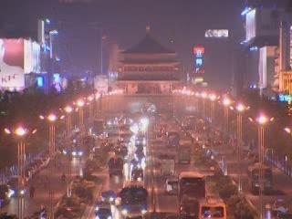 西安市:  陕西省:  中国:      Night Xian