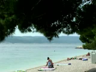 Brela:  Croatia:      Punta Rata beach