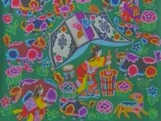 青海省:  中国:      Qinghai Ethnic Art