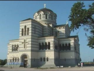 Sevastopol:  Crimea:  Ukraine:      Saint Vladimir Cathedral, Chersonesus