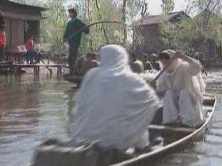 ジャンムー・カシミール州:  インド:      Shikara on Lake Nagin