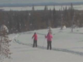 Posio:  Lapland:  Finland:      Skiing in Posio
