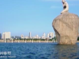 廈門市:  中国:      Statue of Egret Goddes