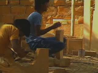 Jaisalmer:  Rajasthan:  India:      Stone carving in Jaisalmer