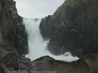 メーガーラヤ州:  インド:      Thum falls