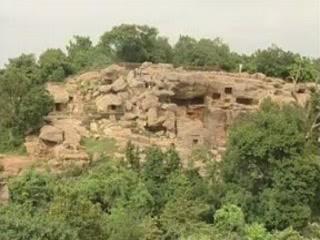 Бхубанешвар:  Орисса:  Индия:      Пещеры Удаягири и Хандагири