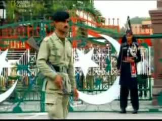 Punjab:  Pakistan:      Wagah border ceremony