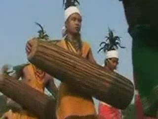 メーガーラヤ州:  インド:      Wangala dance