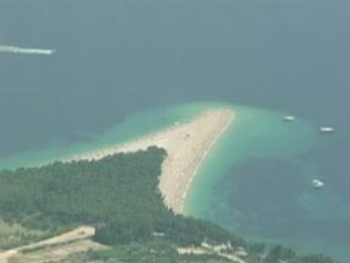 Bol:  布拉奇岛:  克罗地亚:      尖角海滩