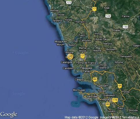 map: Activities in Goa