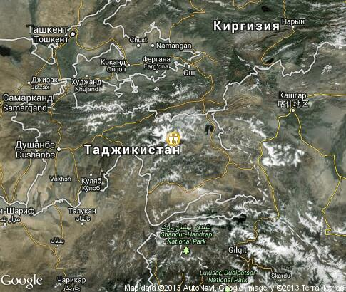 map: Agriculture in Tajikistan