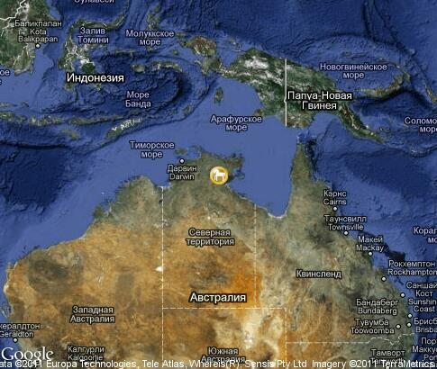 map: Australian crocodile