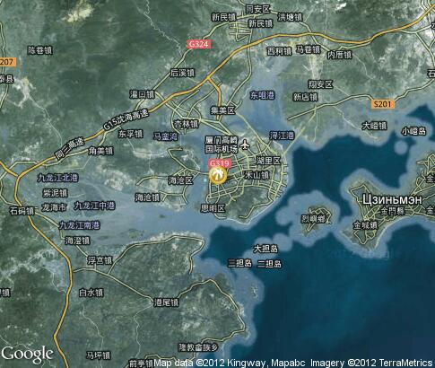 map: Baicheng Beach