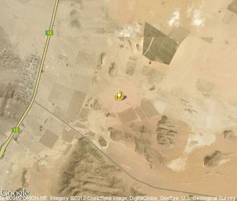 map: Bedouin camp for tourists in Wadi Rum