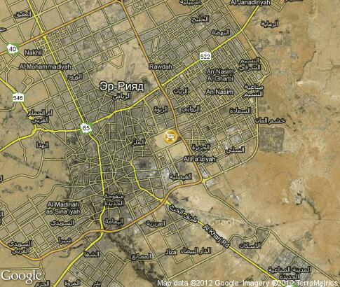 map: Camel Fair in Riyadh