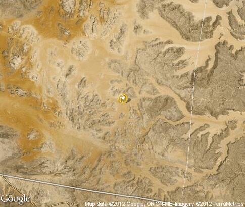 map: Camel route to Wadi Rum