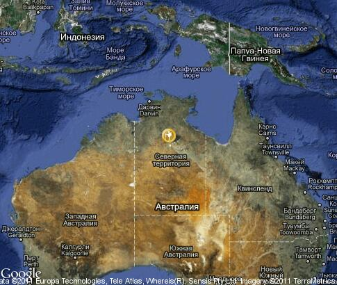 map: Camping in Australia