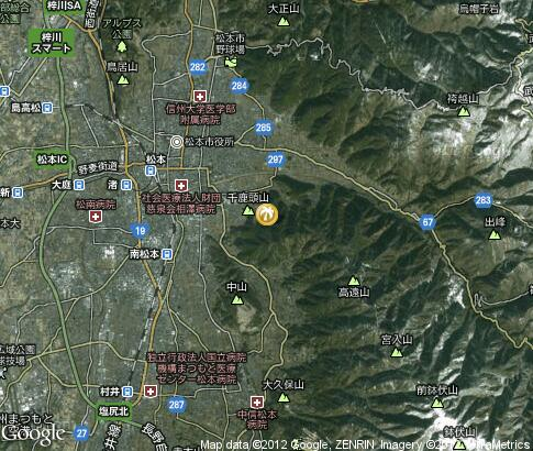 map: Campsites in Matsumoto