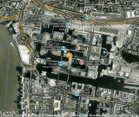 map: Canary Wharf