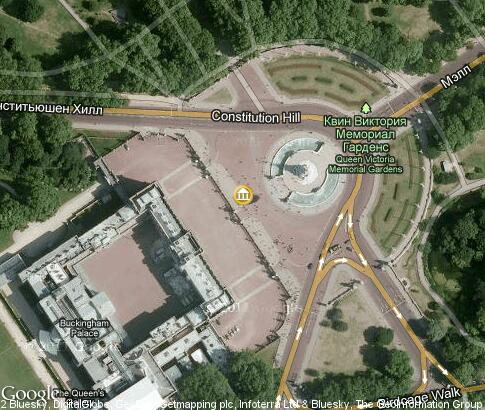 map: Changing the Guard at Buckingham Palace