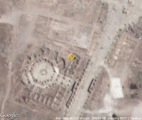 map: Chariot races in ancient city