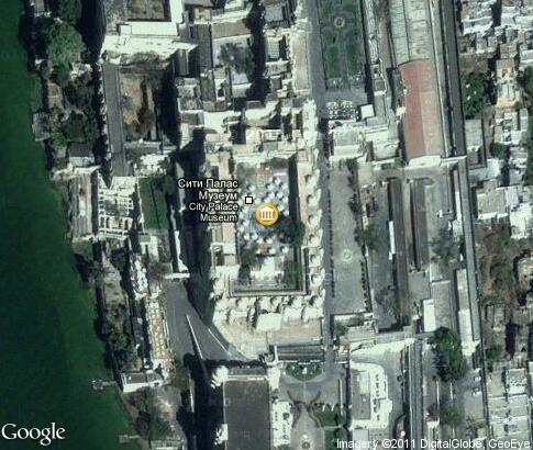 map: City Palace in Udaipur