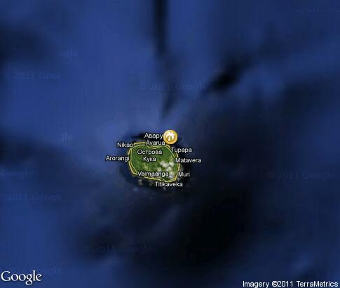 map: Cook Islands Romantic Holidays
