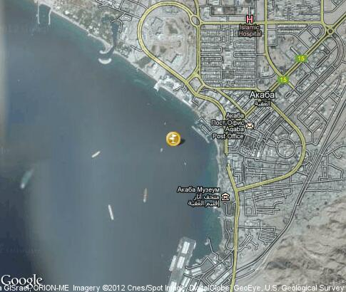 map: Cruises in Aqaba