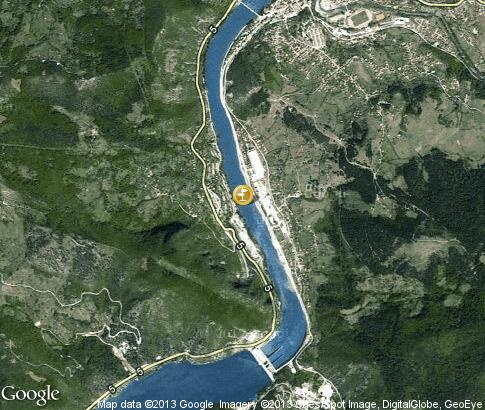map: Cruises on the Drina
