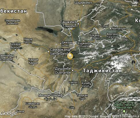 map: Cultural life in Tajikistan