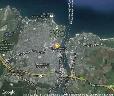 map: Devonport Tasmania