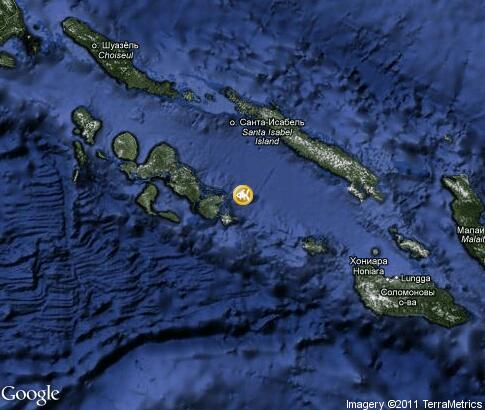 map: Diving Solomon Islands