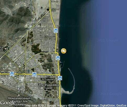 map: Diving in Fujairah